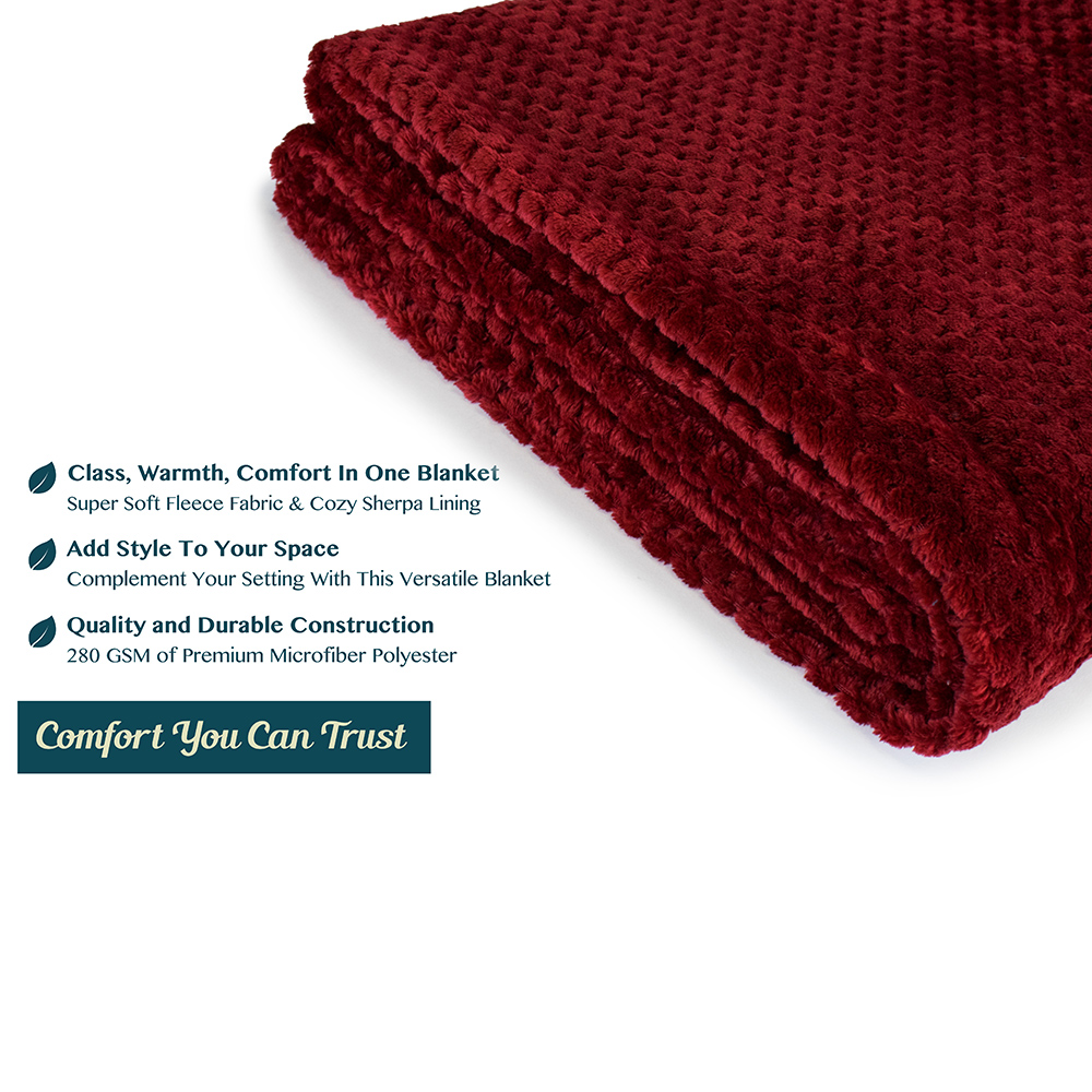 Throw-Blanket-for-Sofa-Couch-Bed-Lightweight-Microfiber-Polyester-Waffle-Pattern thumbnail 90
