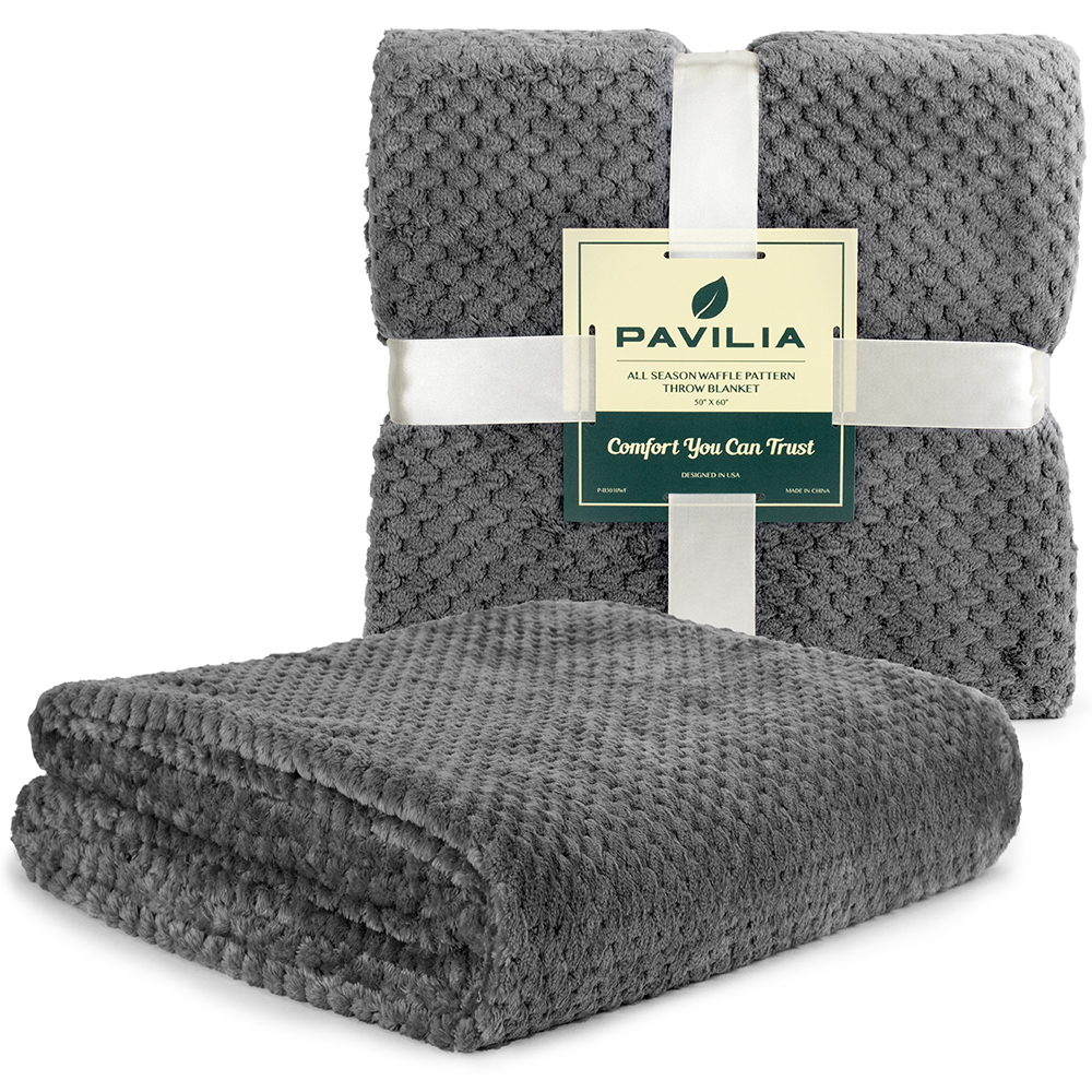 Throw-Blanket-for-Sofa-Couch-Bed-Lightweight-Microfiber-Polyester-Waffle-Pattern thumbnail 44