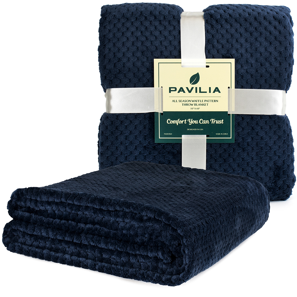 Throw-Blanket-for-Sofa-Couch-Bed-Lightweight-Microfiber-Polyester-Waffle-Pattern thumbnail 56