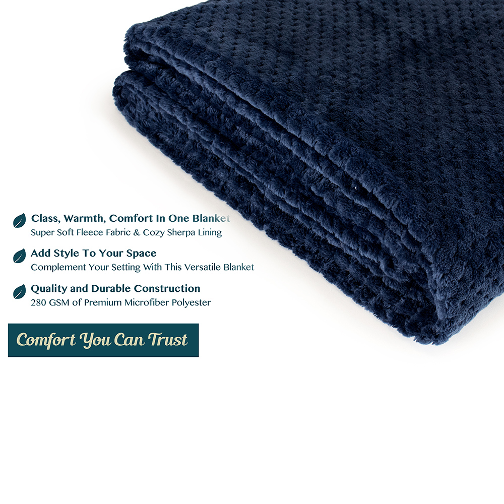Throw-Blanket-for-Sofa-Couch-Bed-Lightweight-Microfiber-Polyester-Waffle-Pattern thumbnail 60