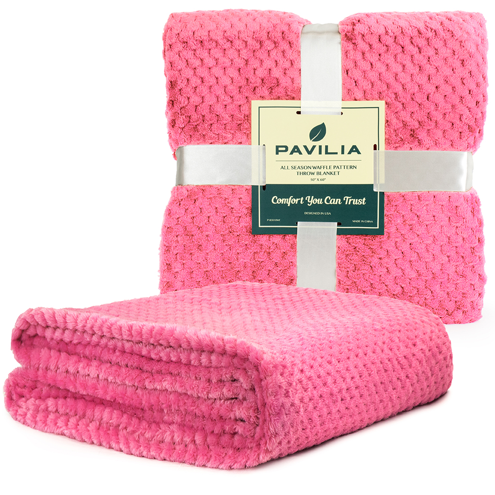 Throw-Blanket-for-Sofa-Couch-Bed-Lightweight-Microfiber-Polyester-Waffle-Pattern thumbnail 62