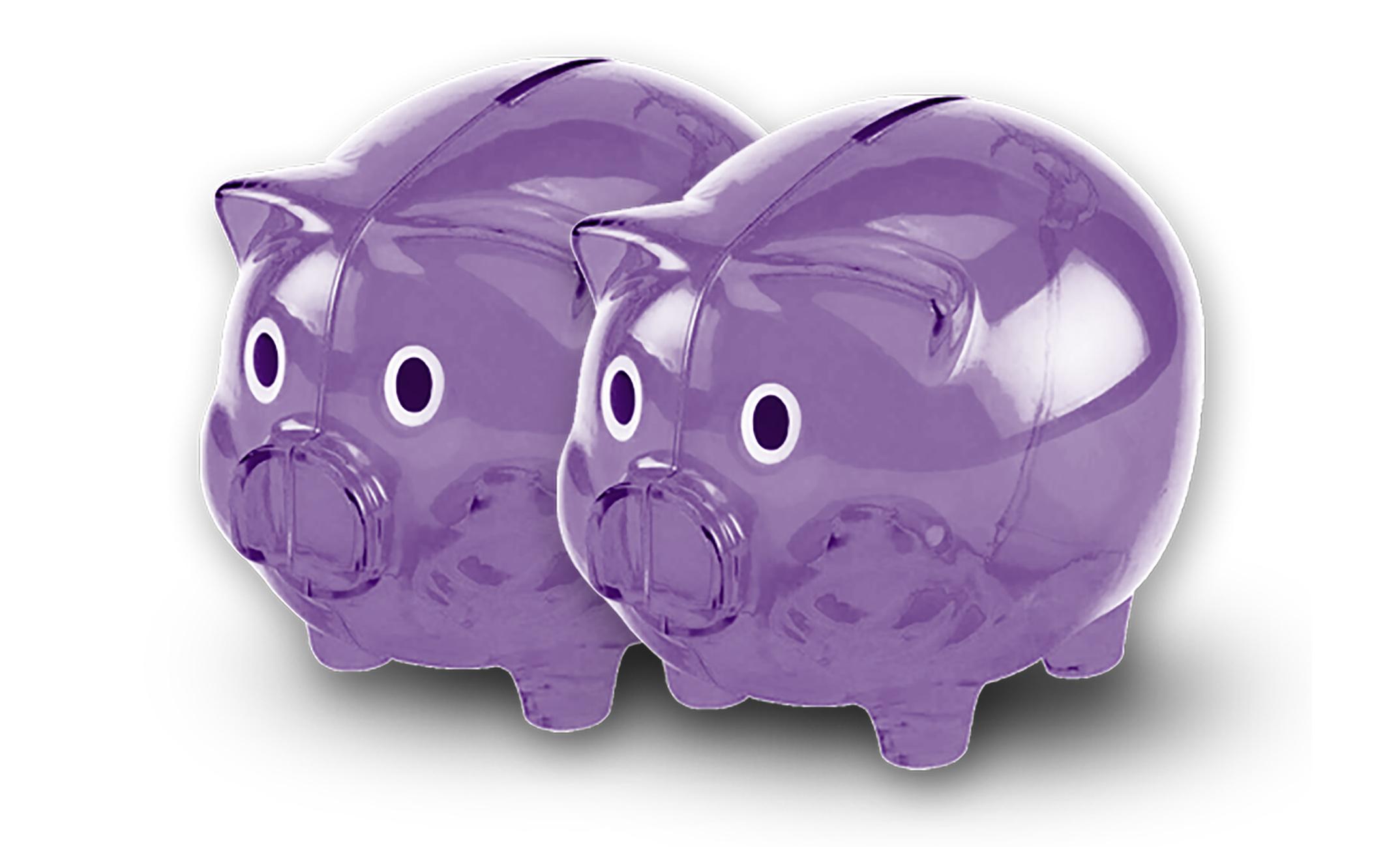 db1b34f99 Purple Transparent Cute Piggy Bank