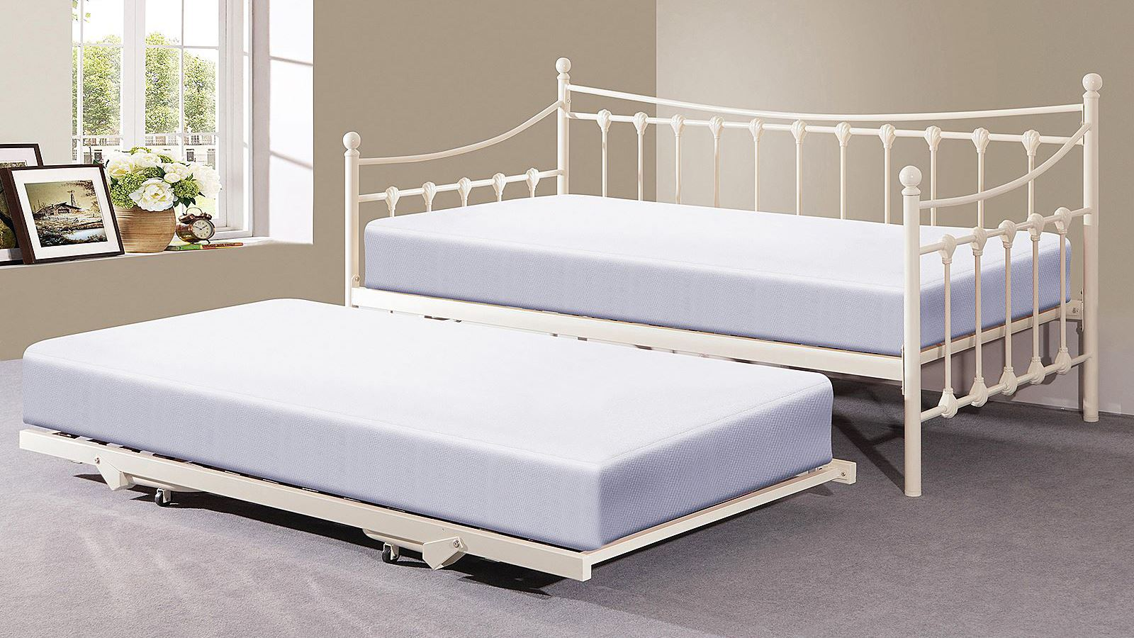 Good MEMPHIS 3FT SINGLE FRENCH STYLE DESIGN BEDSTEAD W