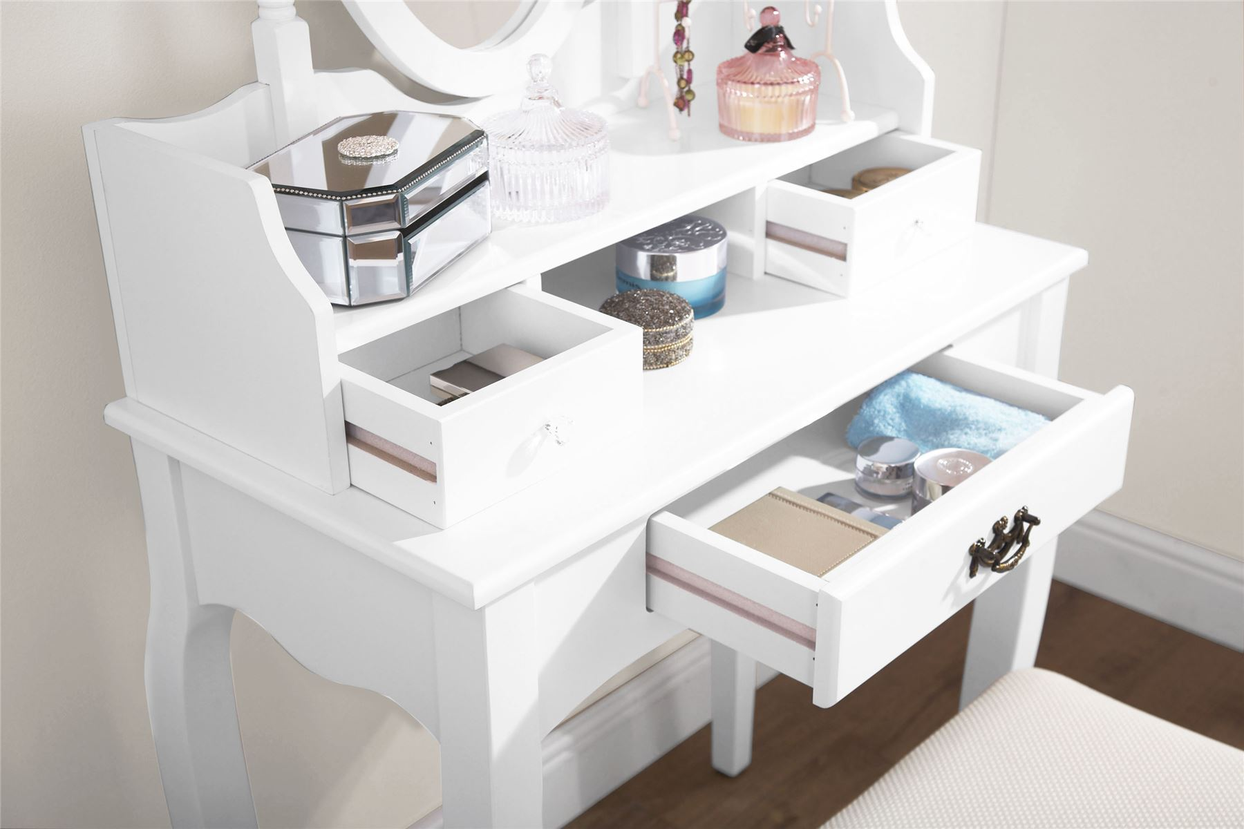 pictures new vanity desk wall diy up white and of make table color mirror wooden best lighted with makeup painted