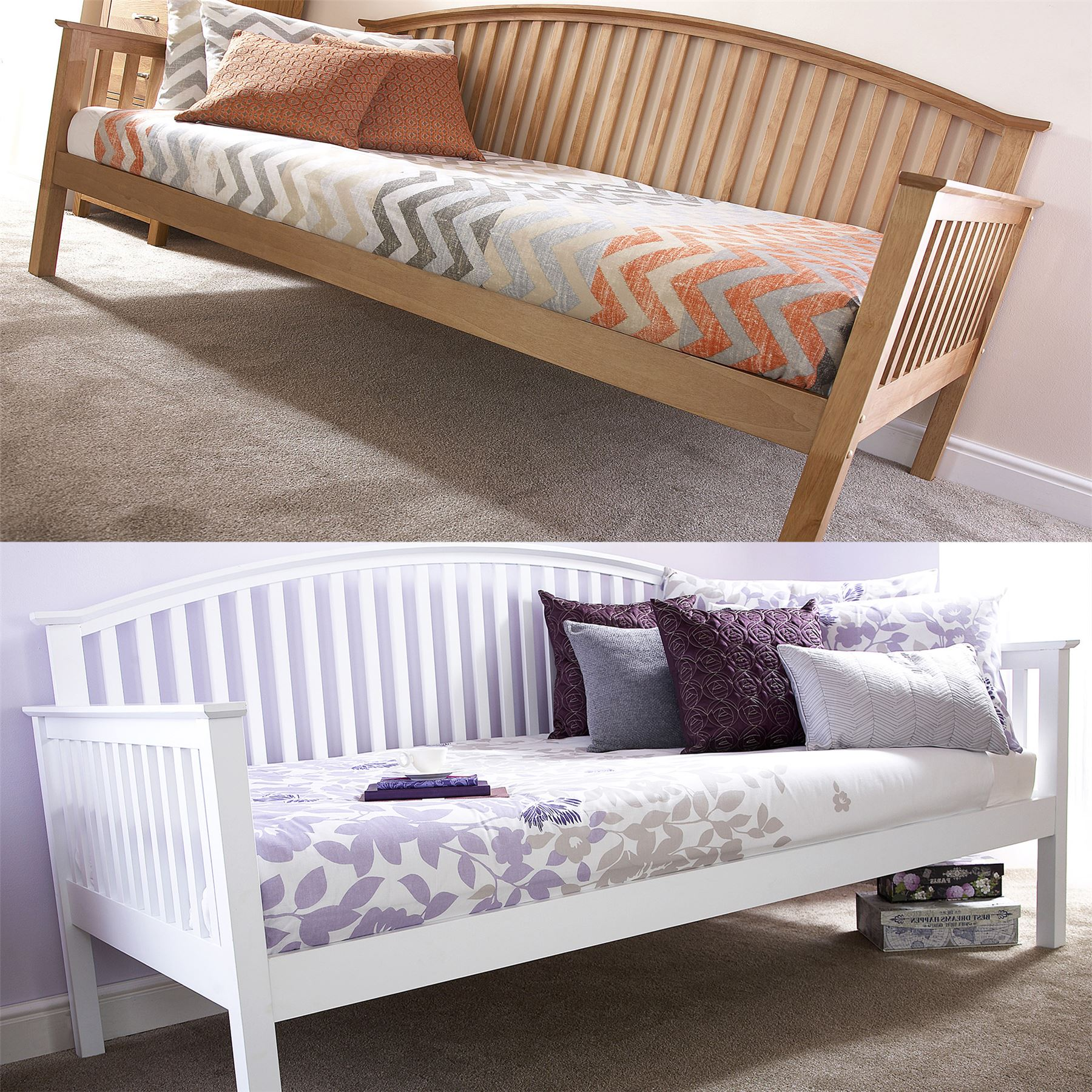 Madrid Wooden 3ft Single Day Bed Frame Amp Trundle Guest