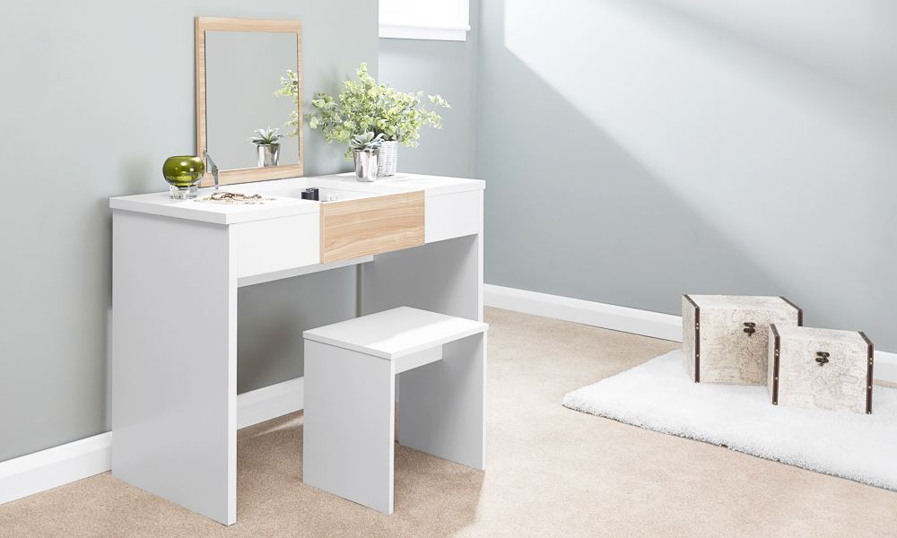 small vanity table without mirror. MARLOW DRESSING TABLE SET MAKEUP DESK VANITY W  RECTANGULAR MIRROR