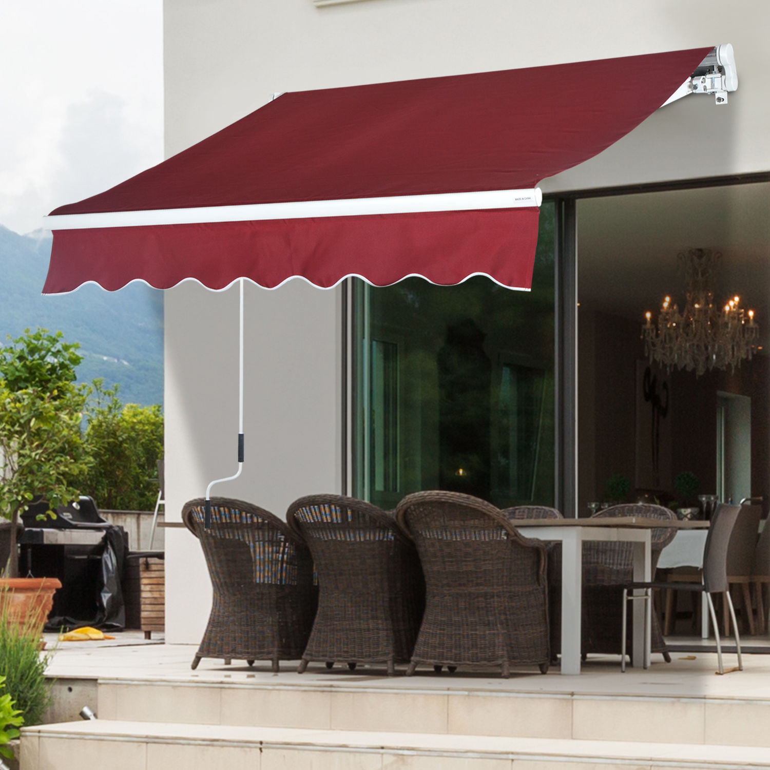 Outdoor 8'x7'/13'x8' Patio Awning Sun Shade Canopy Shelter ...