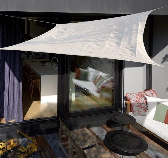 Sun-Shade-Sail-UV-Top-Cover-Outdoor-Canopy-Patio-Triangle-Square-Rectangle-w-Bag thumbnail 16