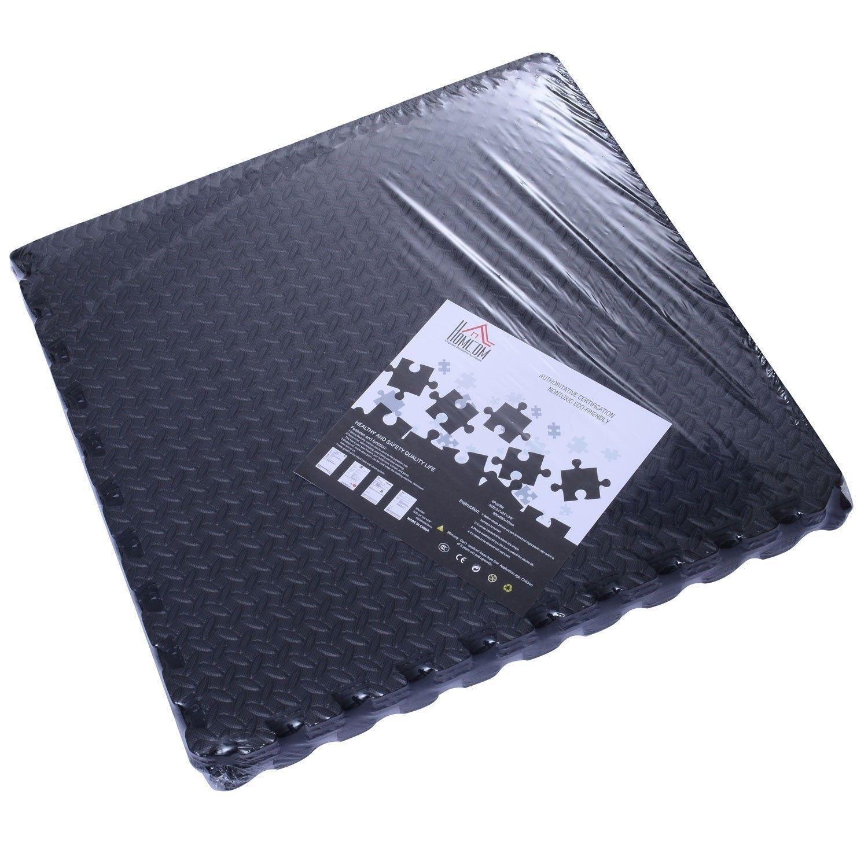 Workout Mat Tiles: 216 SqFt Interlocking Puzzle Rubber Foam Gym Fitness