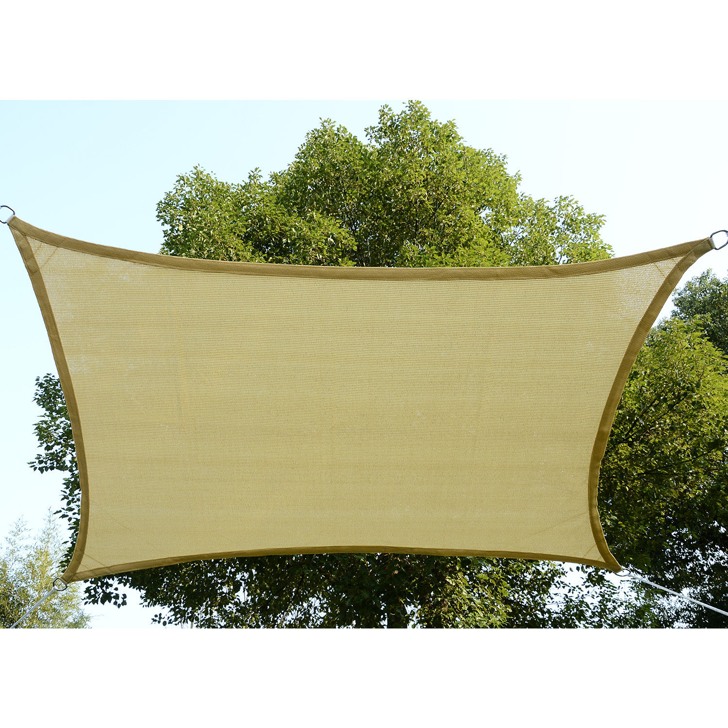 Sun-Shade-Sail-UV-Top-Cover-Outdoor-Canopy-Patio-Triangle-Square-Rectangle-w-Bag thumbnail 33