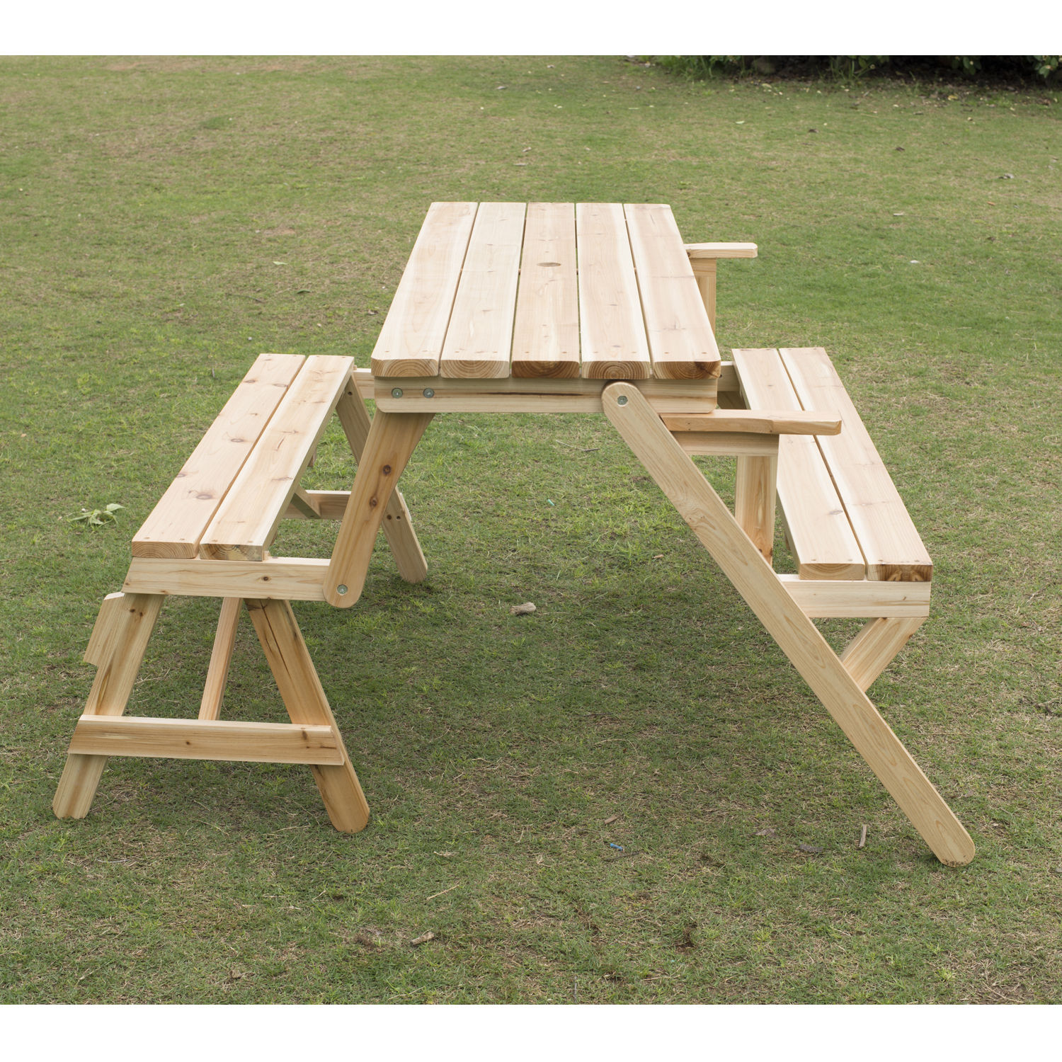 Strange Details About Outsunny Patio 2 In 1 Outdoor Interchangeable Picnic Table Garden Bench Wood Ibusinesslaw Wood Chair Design Ideas Ibusinesslaworg