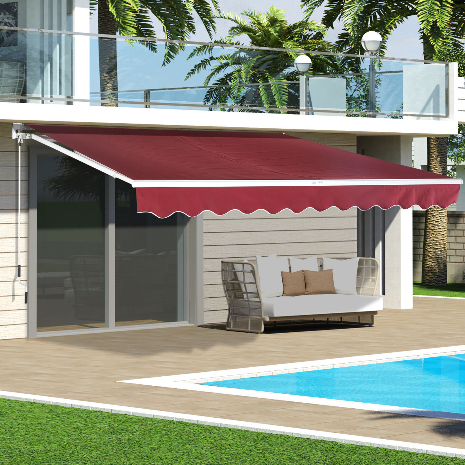 Outdoor 8 x7 13 x8 Patio Awning Sun Shade Canopy Shelter Manual