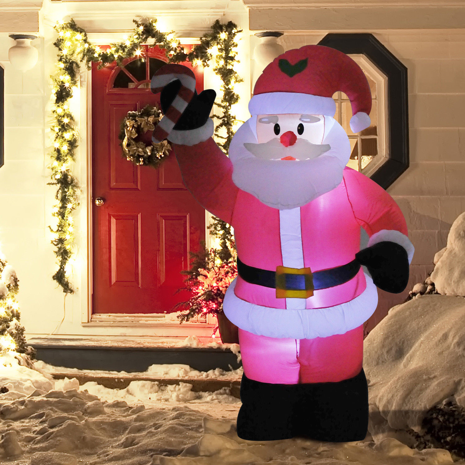 Inflatable Christmas Decorations.Details About 8ft Inflatable Christmas Santa Claus Holiday Airblown Yard Outdoor Decorations