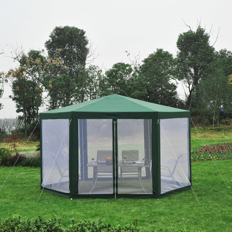 Hexagonal-Patio-Gazebo-Outdoor-Canopy-Party-Tent-Activity-Event-w-Mosquito-Net thumbnail 25