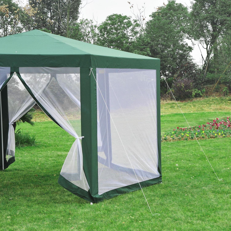 Hexagonal-Patio-Gazebo-Outdoor-Canopy-Party-Tent-Activity-Event-w-Mosquito-Net thumbnail 28