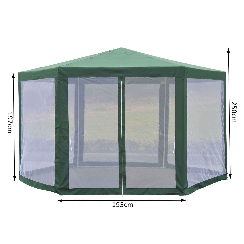 Outsunny-Patio-Gazebo-Netting-Canopy-Garden-Party-Tent-  sc 1 st  eBay & Outsunny Patio Gazebo Netting Canopy Garden Party Tent Steel ...