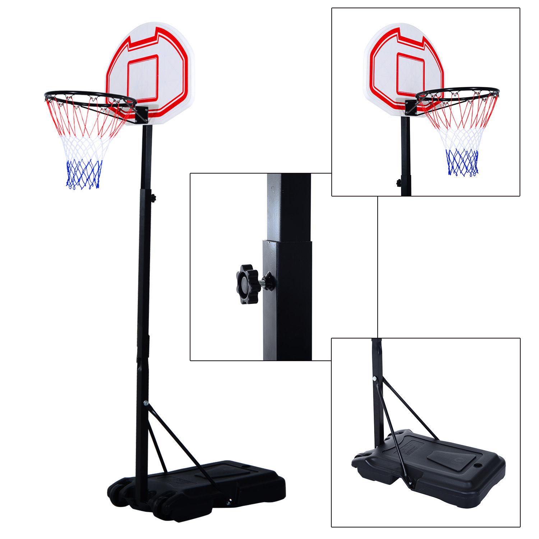 Outdoor Free Standing Basketball Stand Kids Fun Ball Games Net Hoop Garden Pole