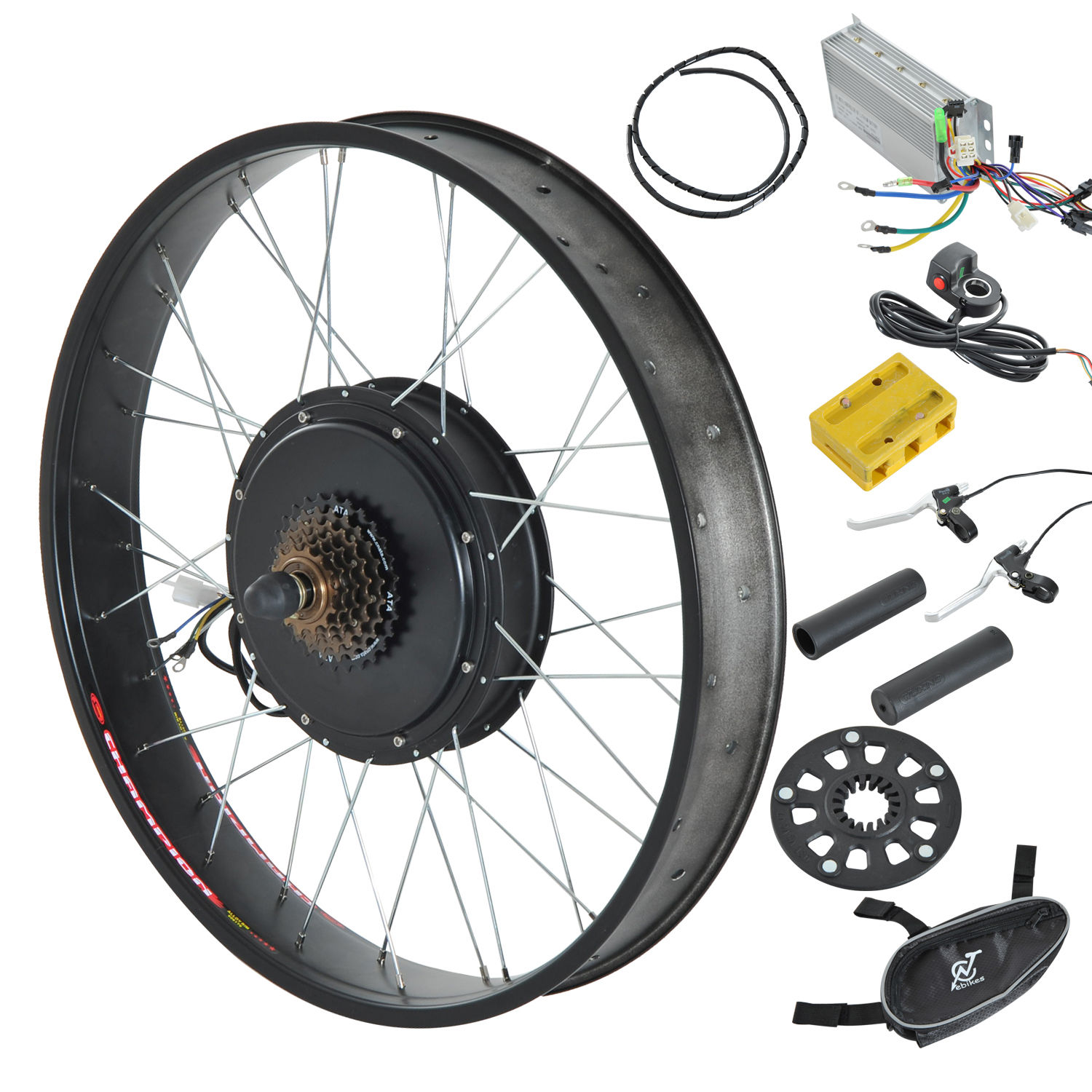 1000w 48v 26 front rear wheel electric bicycle motor for Fat bike front hub motor