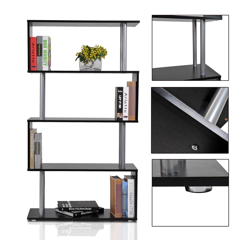 HOMCOM Bookshelf Bookcase Shelf Storage Wood Furniture