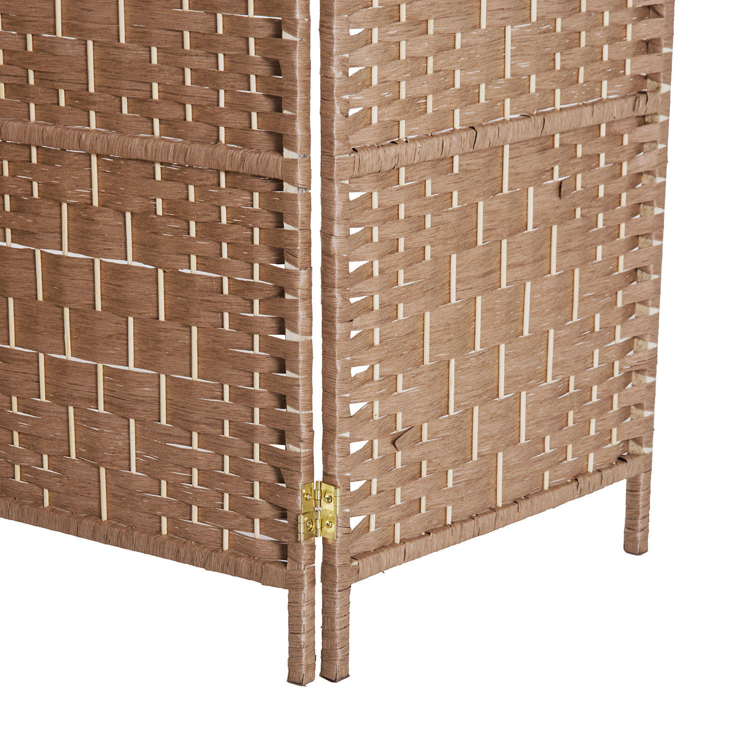 6 Panel Folding Room Divider Resin Wicker Privacy Screen Home Indoor ...
