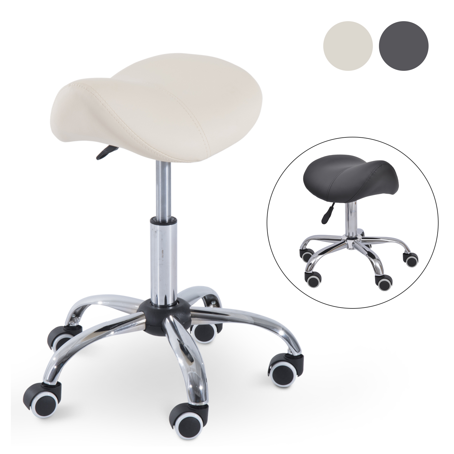 Hydraulic Salon Stool Saddle Chair Adjustable Seat Swivel