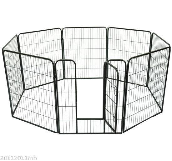 Heavy-Duty-Pet-Playpen-Dog-Exercise-Pen-Cat-Fence-Black-8-Panel-24-034-32-034-39-4-034
