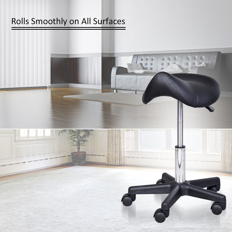 Saddle-Salon-Stool-Adjustable-Swivel-Massage-Spa-Beauty-Stool-Rolling-Chair-BK