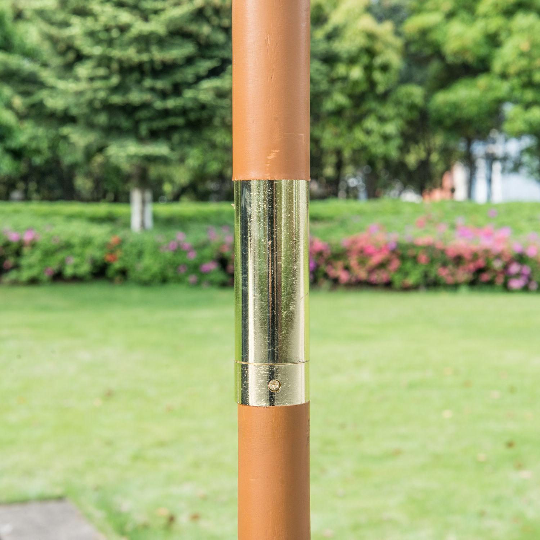 9-039-x-8-039-H-Wooden-Round-Market-Patio-Sun-Umbrella-Garden-Parasol-Outdoor-Sunshade thumbnail 16