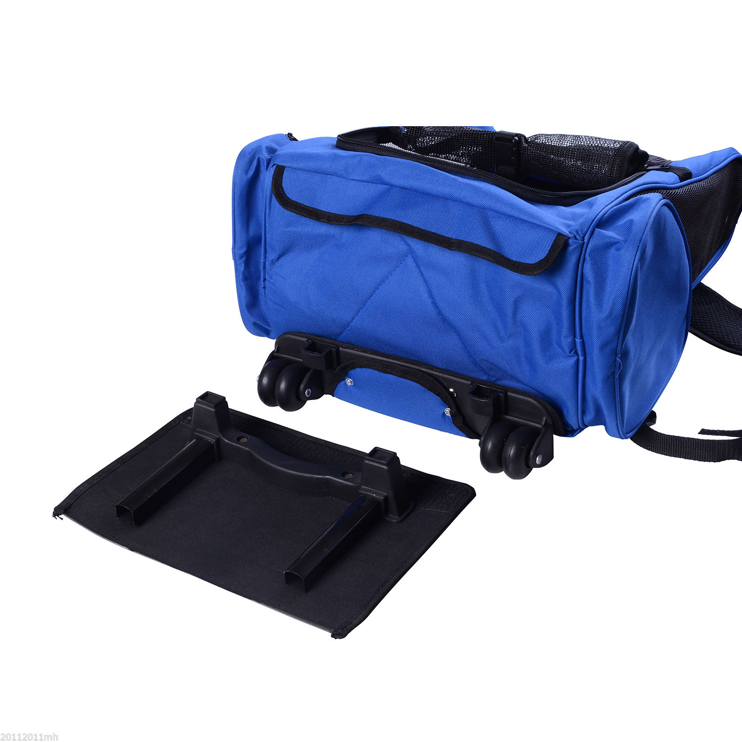 4in1-Pet-Backpack-Carrier-Car-seat-Dog-Cat-Rolling-Luggage-Crates-Blue-Red