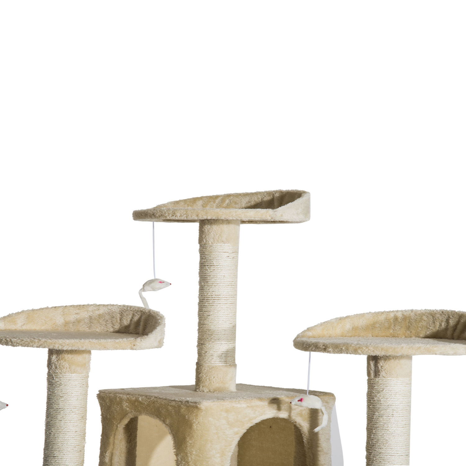 71-034-Scratching-Post-Cat-Tree-Kitty-Condo-Multi-Level-Play-Activity-Center-Beige