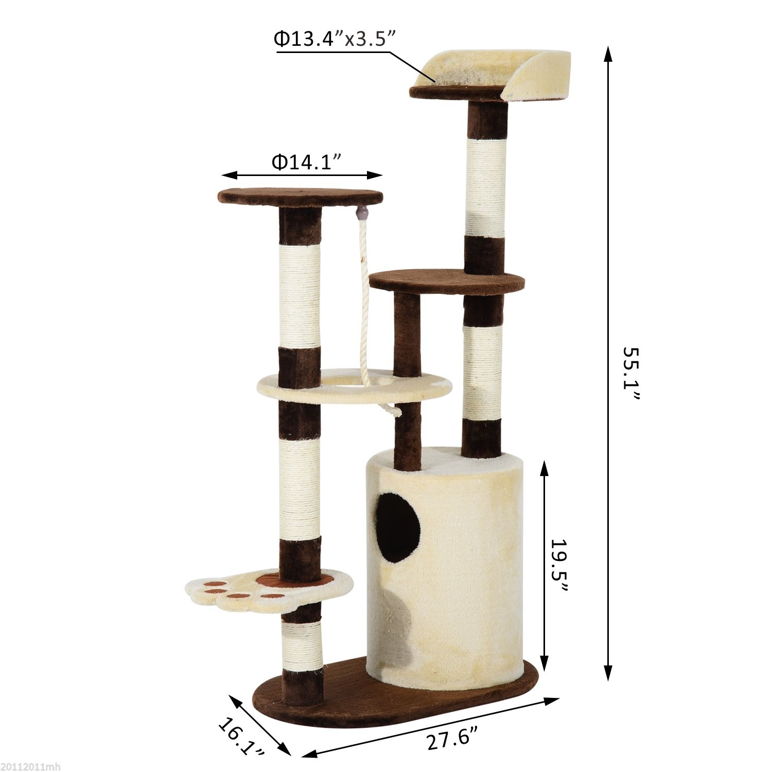 55-034-Cat-Tree-Condo-Scratching-Post-Kitten-Tower-House-Play-Center-Pet-Furniture