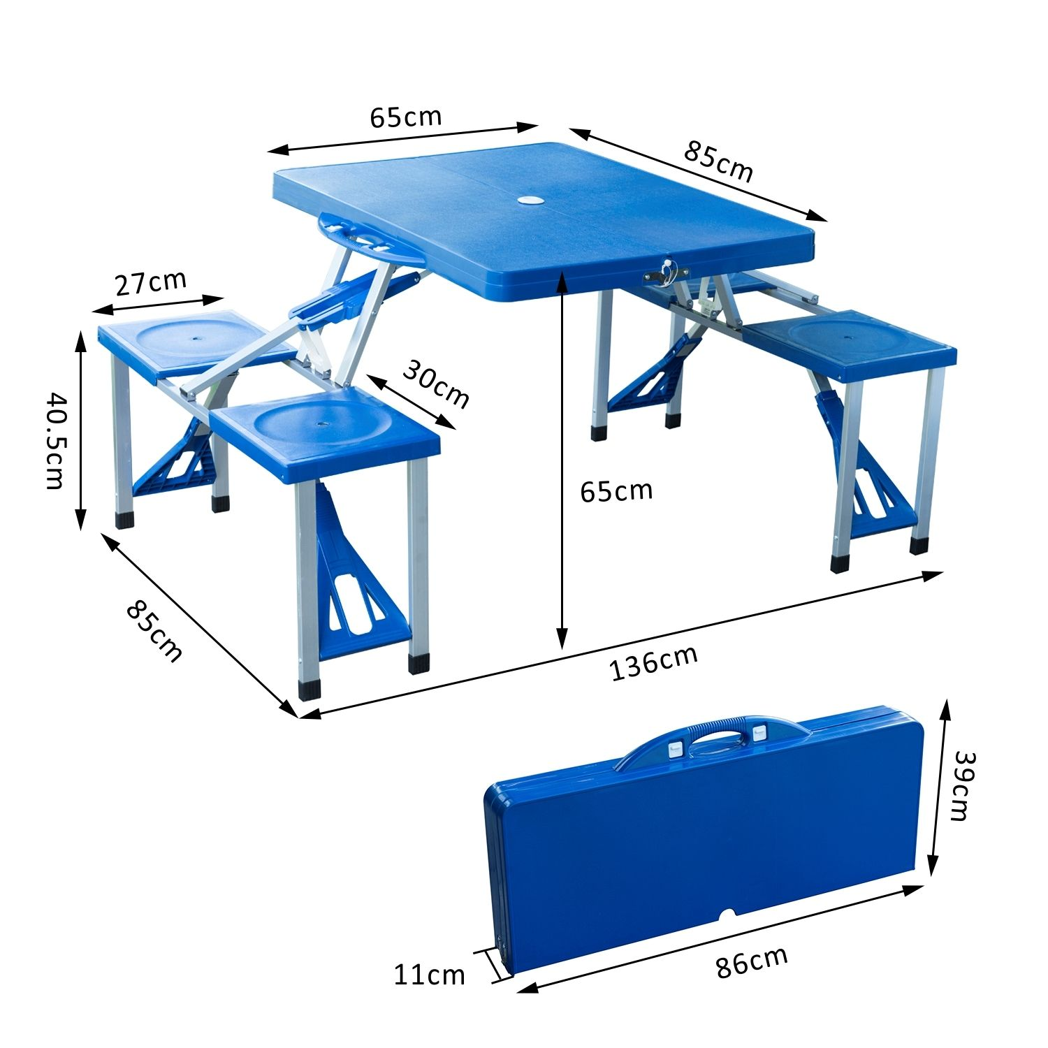 Portable-Folding-Camping-Picnic-Table-Party-Outdoor-Garden-Chair-Stools-Set thumbnail 12