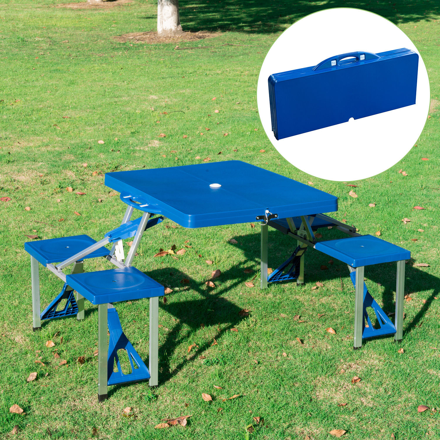 Portable-Folding-Camping-Picnic-Table-Party-Outdoor-Garden-Chair-Stools-Set thumbnail 16
