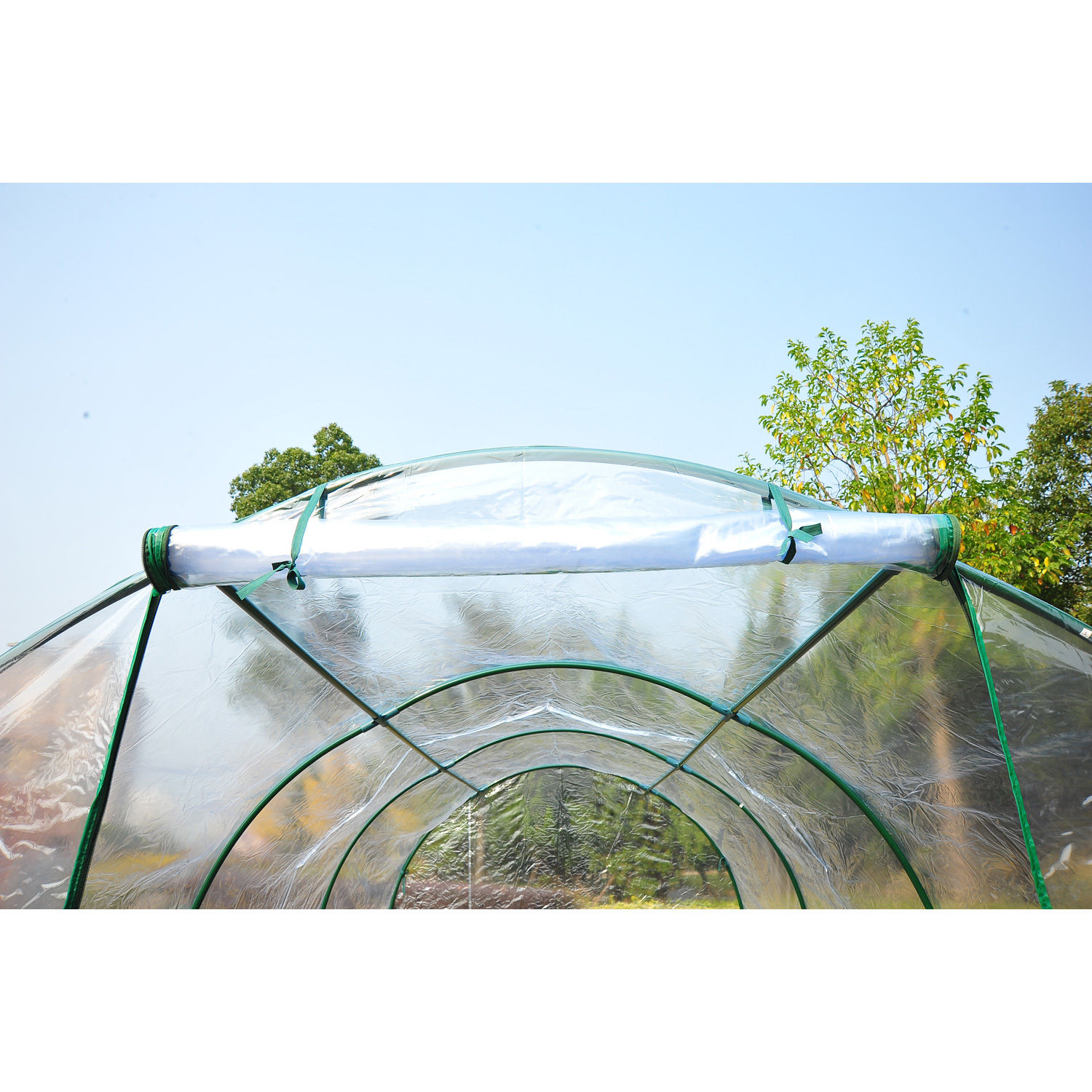 Transparent-Polytunnel-Greenhouse-Poly-Tunnel-Green-House-Steel-Frame-PVC-Cover thumbnail 16