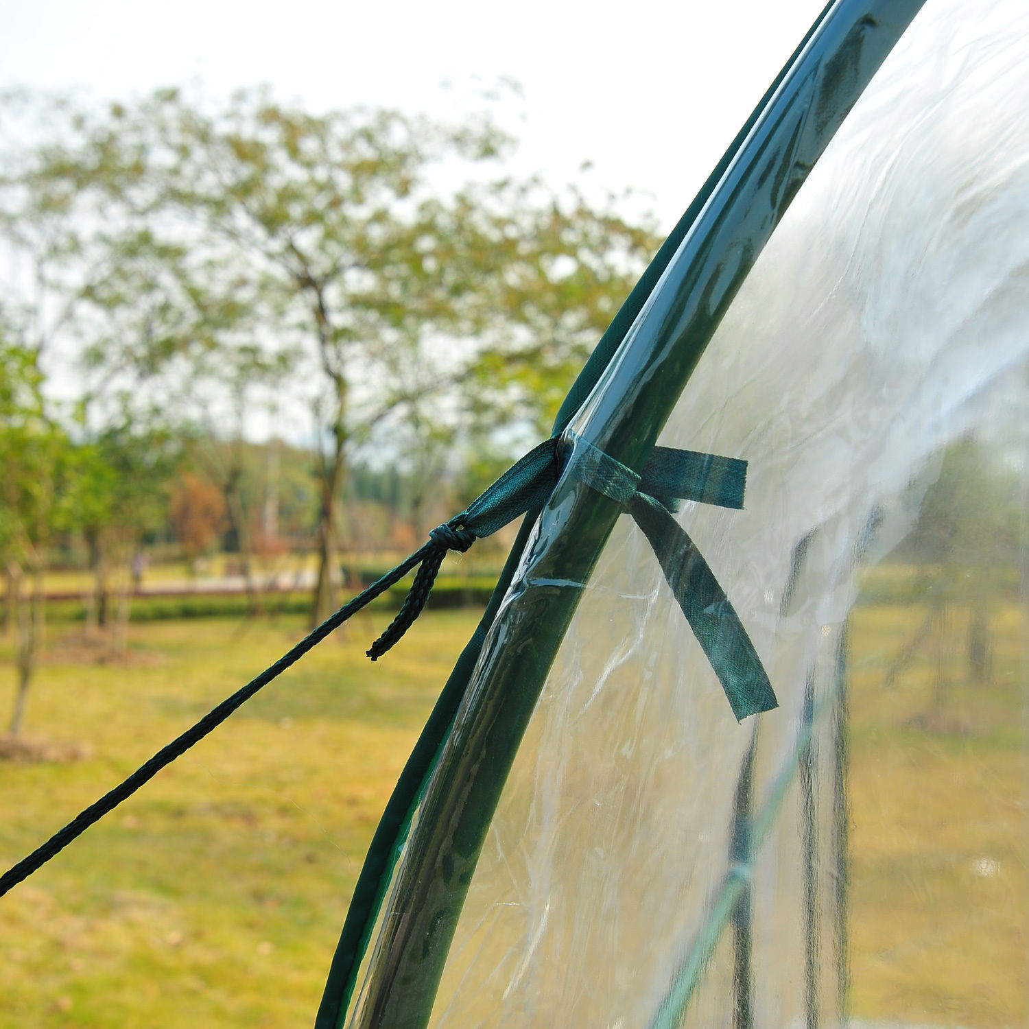 Transparent-Polytunnel-Greenhouse-Poly-Tunnel-Green-House-Steel-Frame-PVC-Cover thumbnail 15