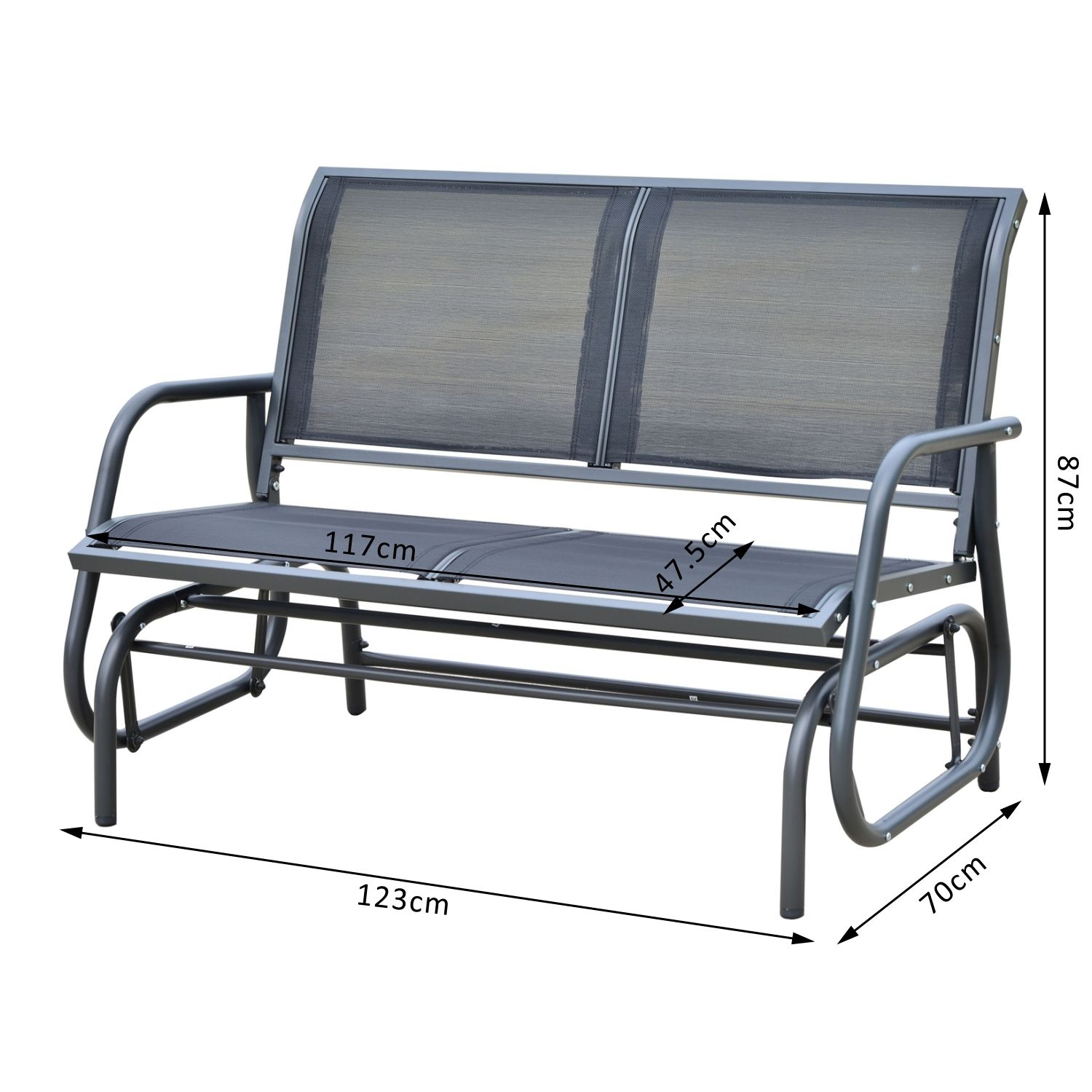 glider progressive leisure furniture patio loveseat bench products outdoor garden rocking prairie design