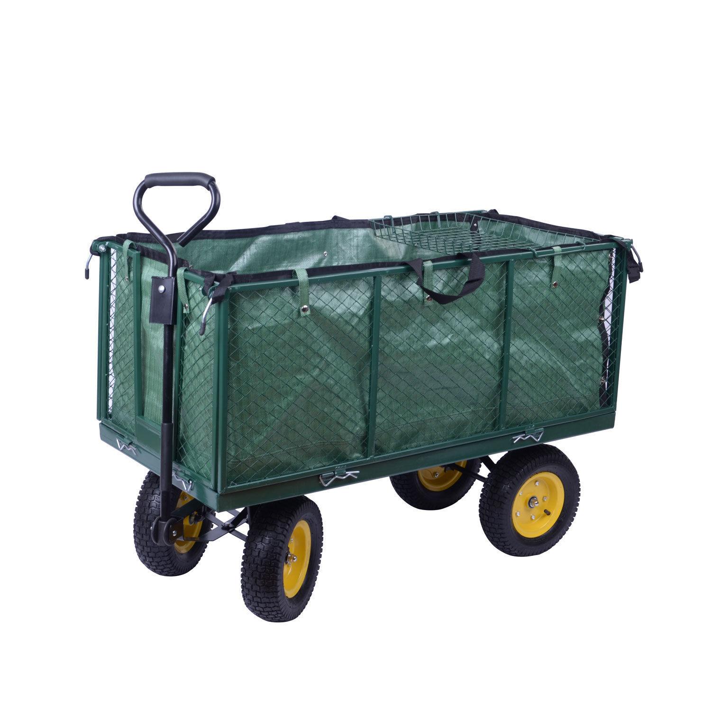 Outsunny Heavy Duty Garden Cart Truck Trolley Wheelbarrow