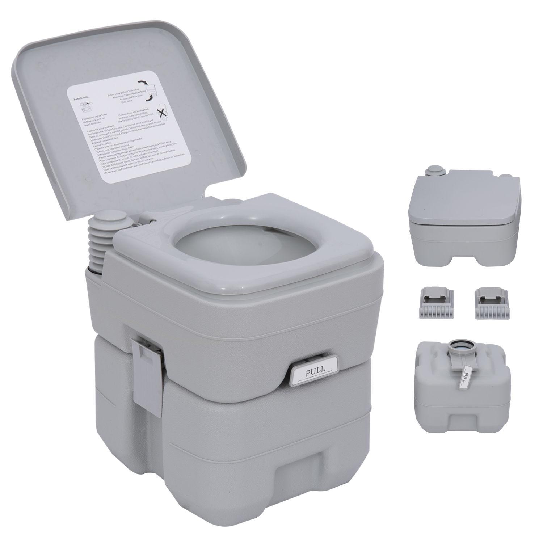 Outsunny 20l Camping Toilet Portable Travel Wc Caravan