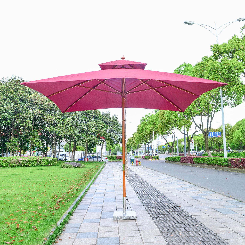Outsunny 3m Garden Parasol Patio Bamboo Sun Umbrella Sun