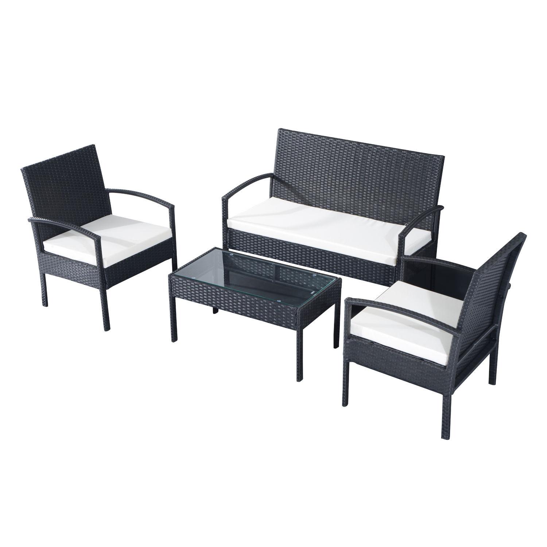 Patio Furniture Repair New Jersey: Outsunny Rattan Sofa Set Garden Furniture Outdoor Patio