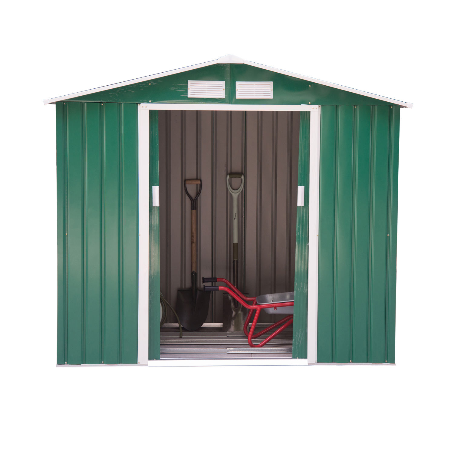 Outsunny 6x4ft Garden Shed Patio Foundation Storage Unit