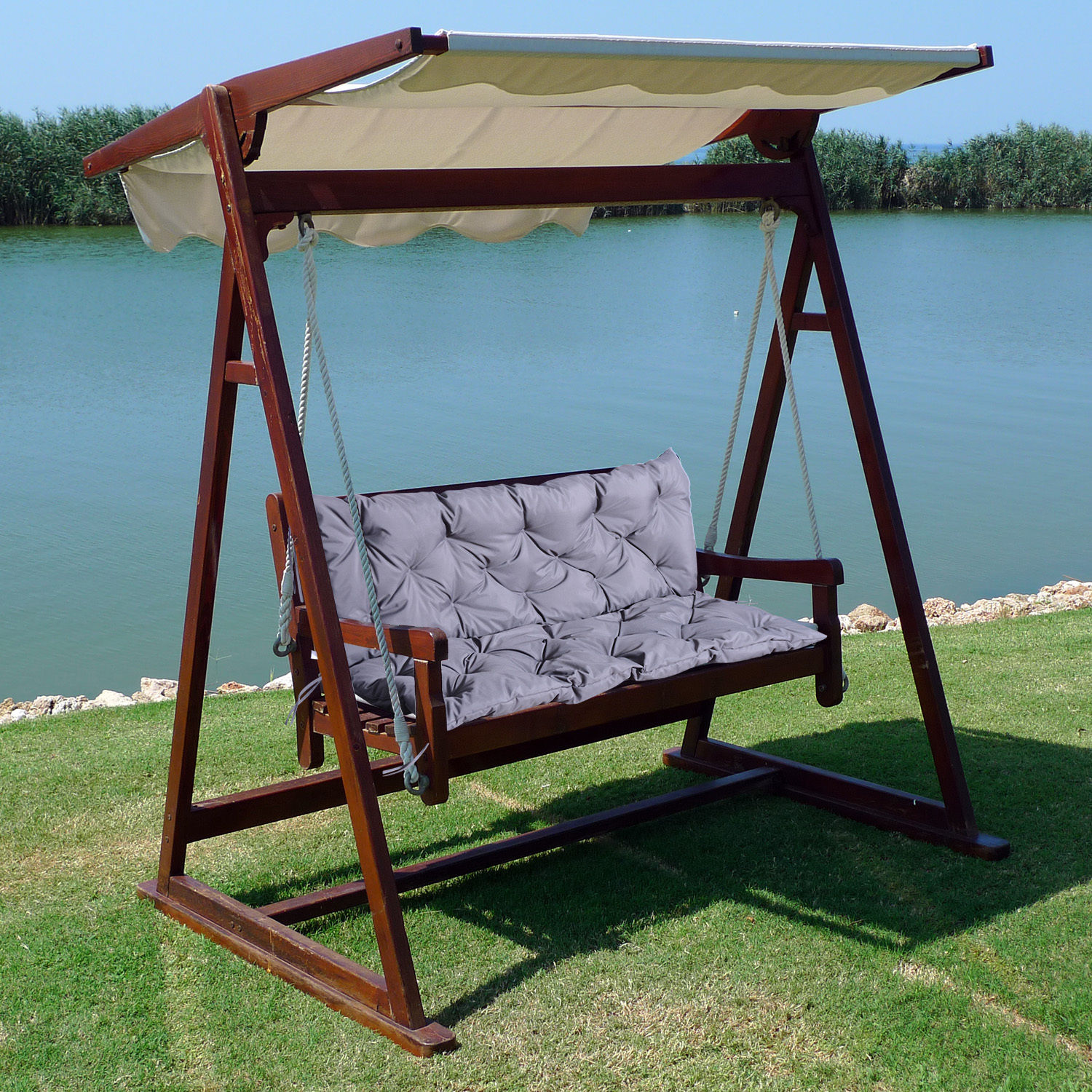 3 Seater / 2 Seater Bench Swing Seat Cushion ONLY Garden Furniture ...
