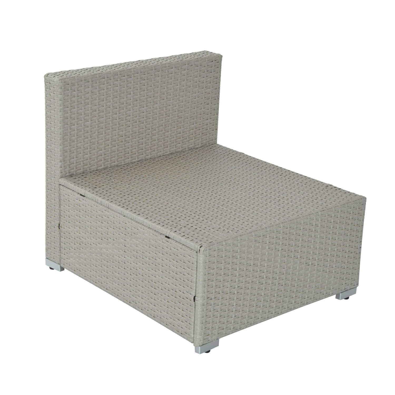 Outsunny 5pc Wicker Furniture Outdoor Rattan Sofa Set