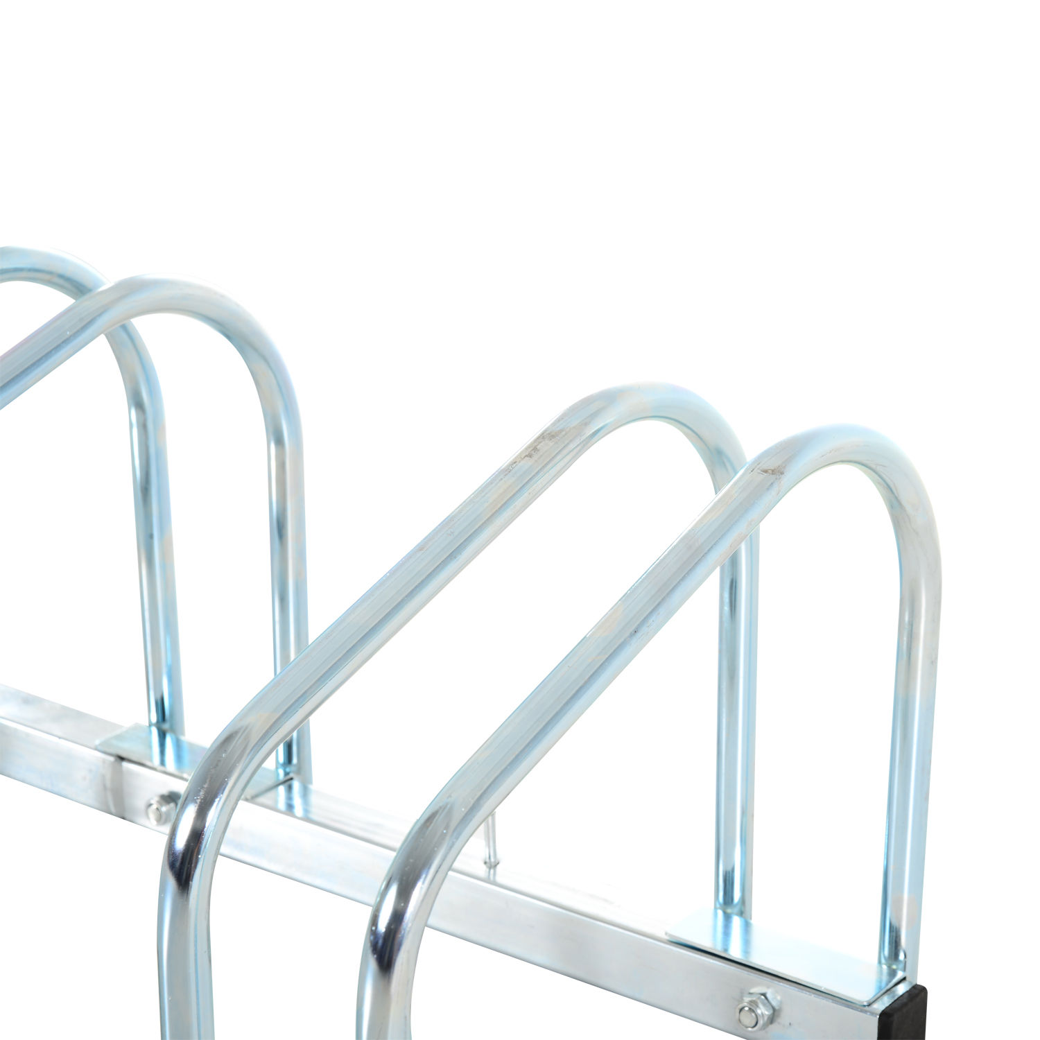 Bicycle-Bike-Parking-Cycle-Floor-Rack-Stand-Storage-Mount-Holder-Steel-Pipe miniatura 9