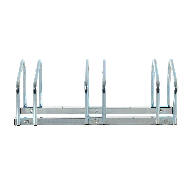 Bicycle-Bike-Parking-Cycle-Floor-Rack-Stand-Storage-Mount-Holder-Steel-Pipe miniature 5