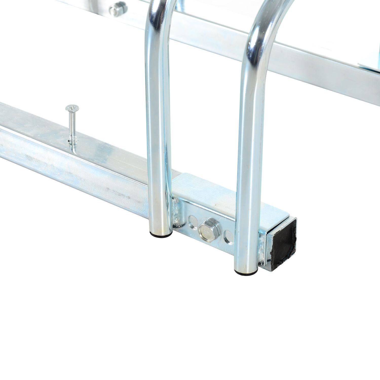 Bicycle-Bike-Parking-Cycle-Floor-Rack-Stand-Storage-Mount-Holder-Steel-Pipe miniature 8