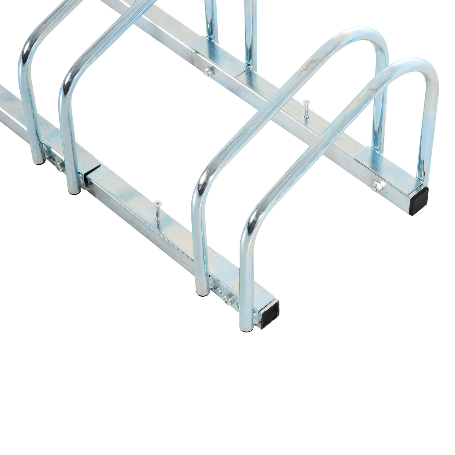 Bicycle-Bike-Parking-Cycle-Floor-Rack-Stand-Storage-Mount-Holder-Steel-Pipe miniatura 7