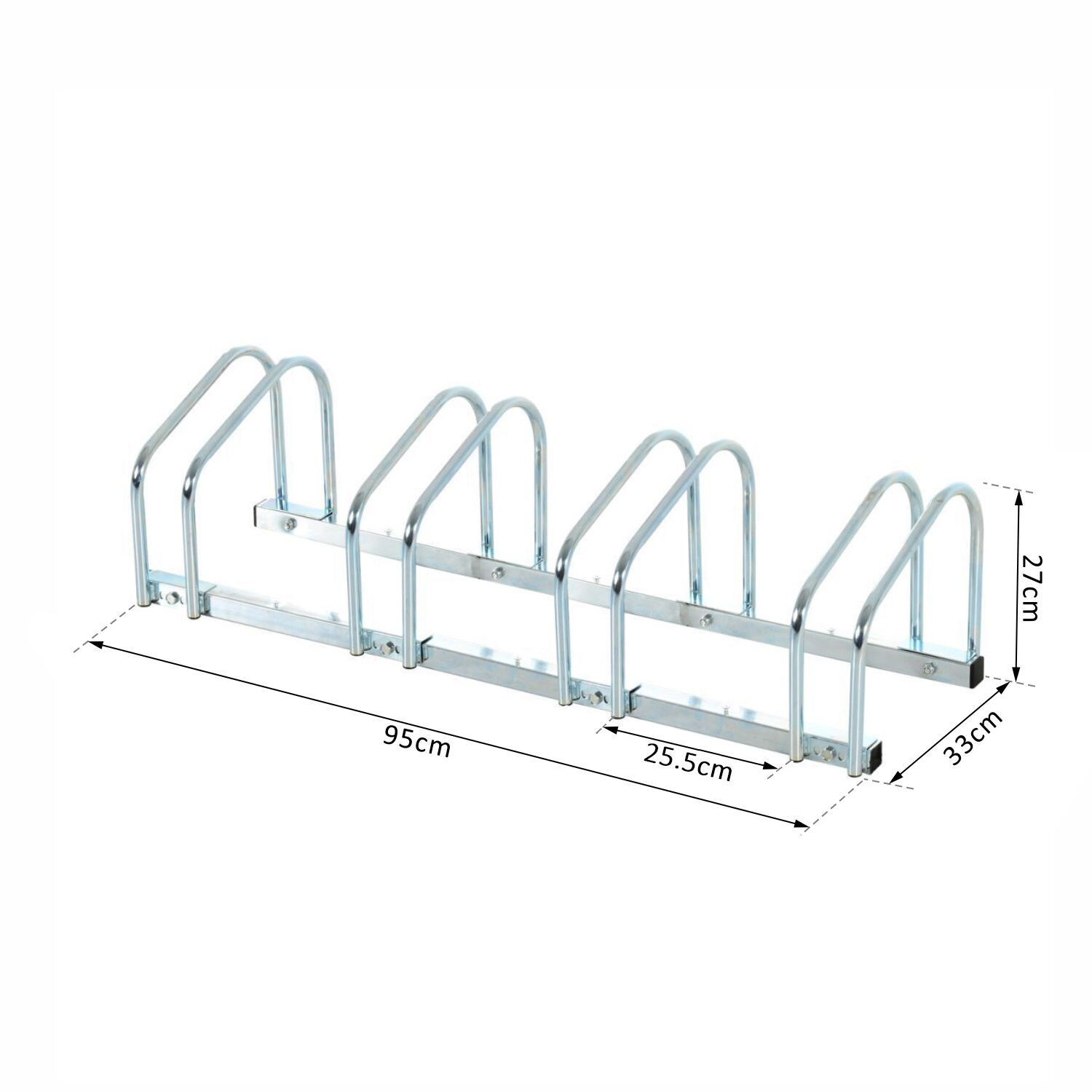 Bicycle-Bike-Parking-Cycle-Floor-Rack-Stand-Storage-Mount-Holder-Steel-Pipe miniatura 12