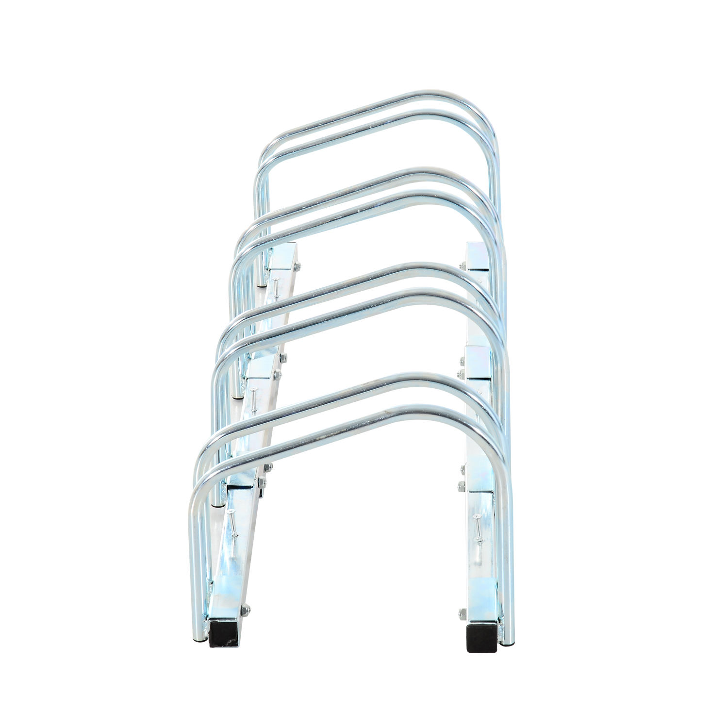 Bicycle-Bike-Parking-Cycle-Floor-Rack-Stand-Storage-Mount-Holder-Steel-Pipe miniatura 14