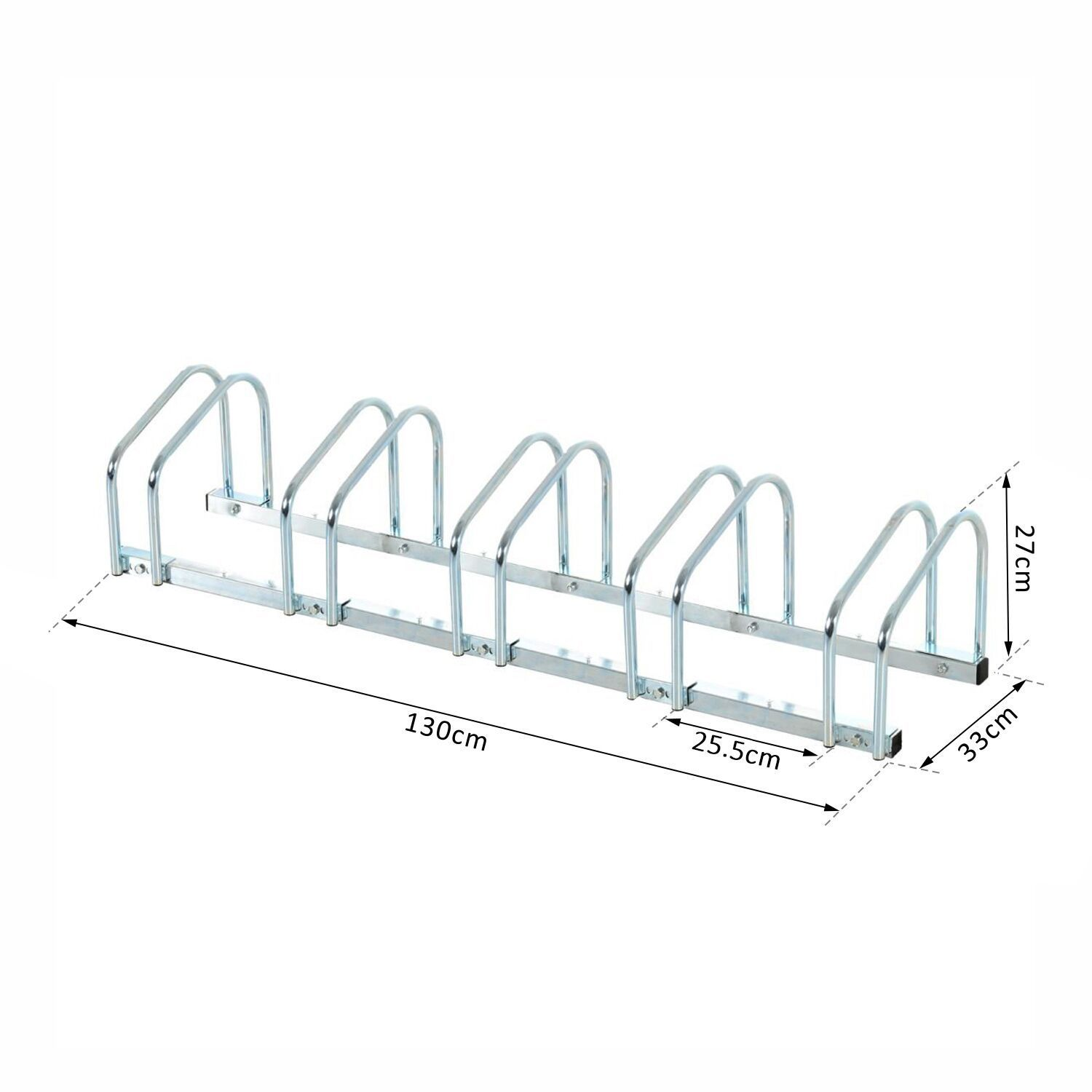 Bicycle-Bike-Parking-Cycle-Floor-Rack-Stand-Storage-Mount-Holder-Steel-Pipe miniatura 21